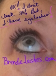 Okay, I don't look 35, but I have eyelashes!