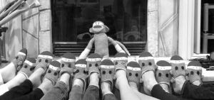 These are the Monkey Sock Feet of my Best Friends from Childhood